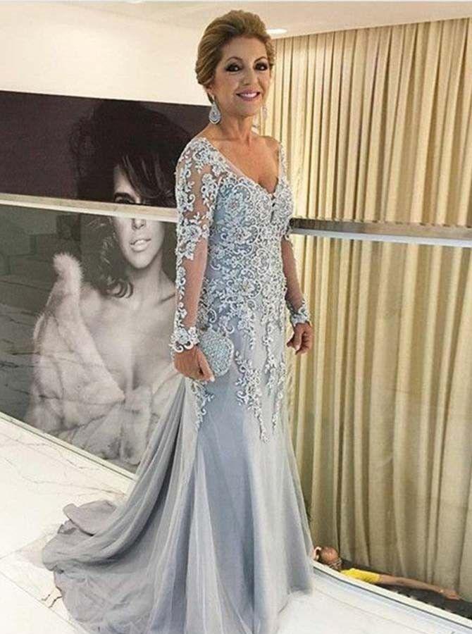 Silber Abendkleider Brautmutter   Brautmutterkleider mit ...
