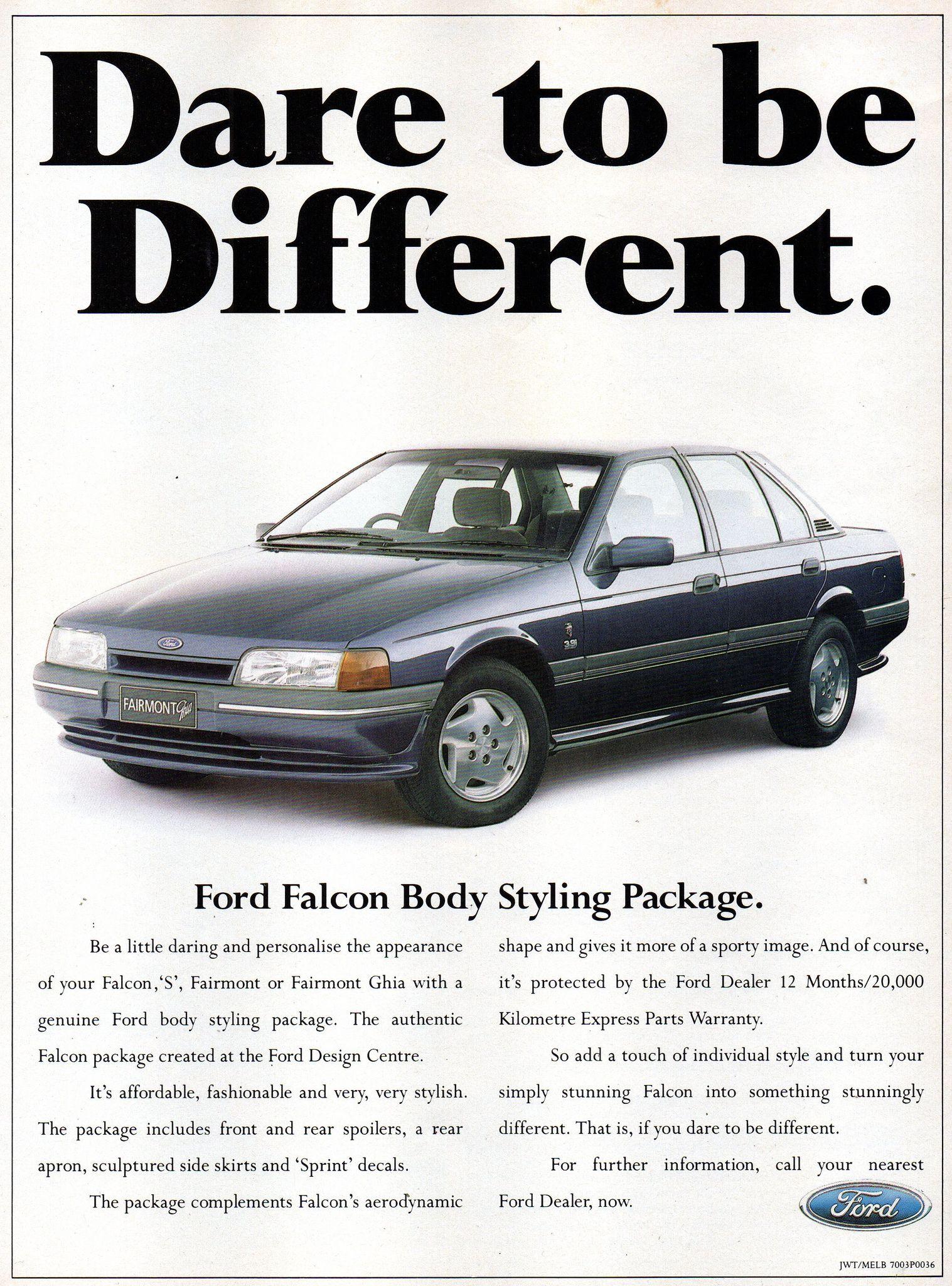 1989 Ea Ford Falcon S Fairmont Or Fairmont Ghia Genuine Body Styling Package Aussie Original Magazine Advertisement Ford Falcon Australian Cars Ford