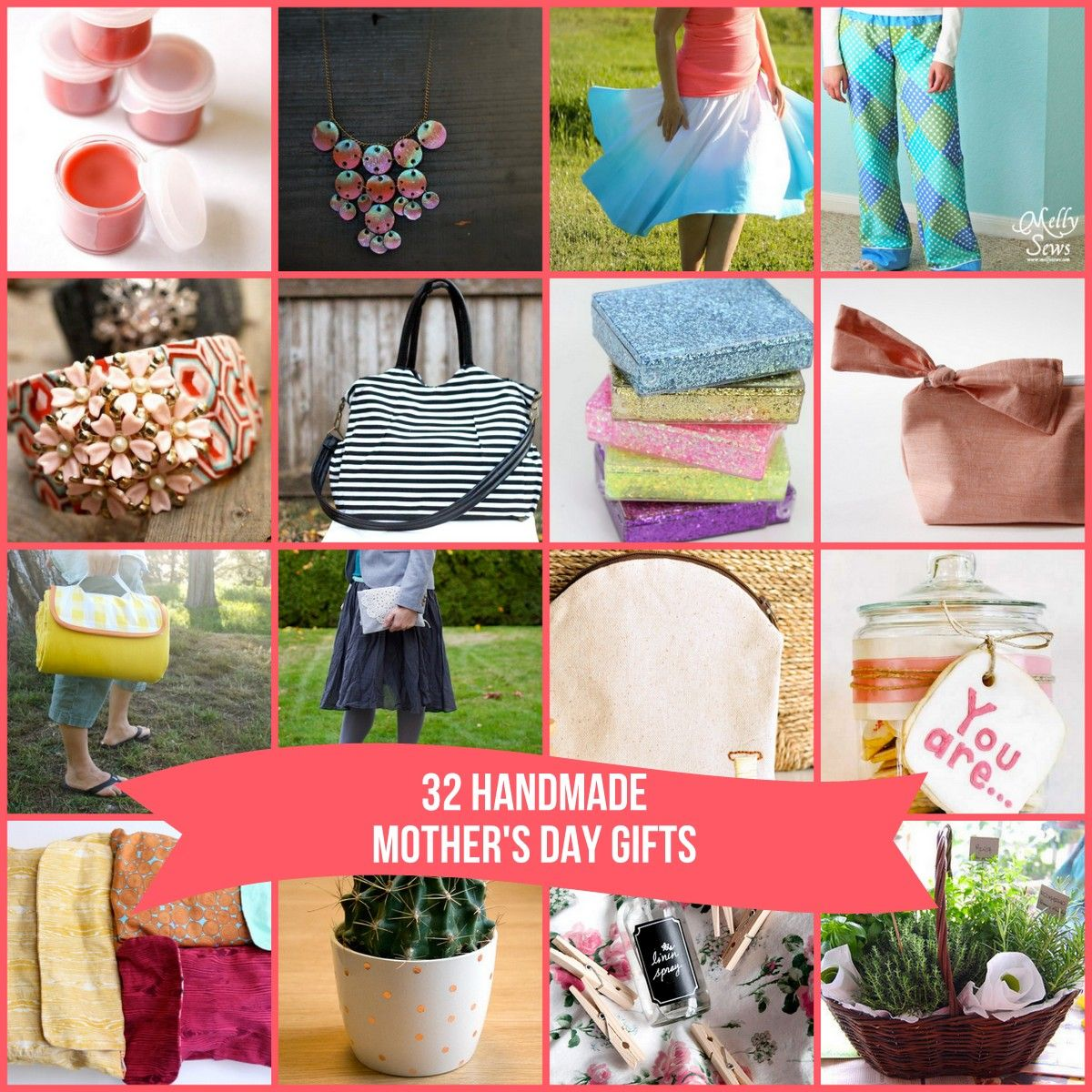 32 fabulous DIY Mothers Day gift ideas (includes no sew