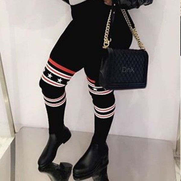 f1fd39dcc Image result for GIVENCHY Black Stars Over-the-Knee Sock Rain Boots outfit
