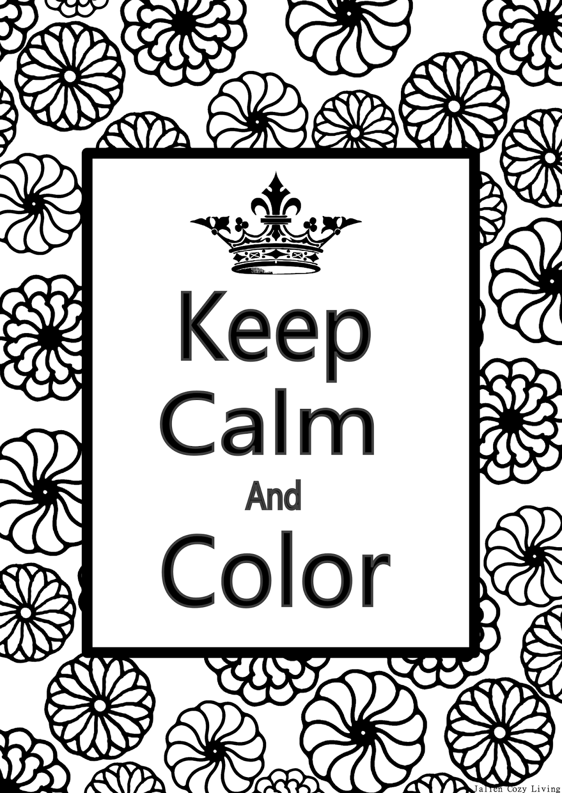 American Hippie  E  Ae Coloring Page Zentangle Art Keep Calm