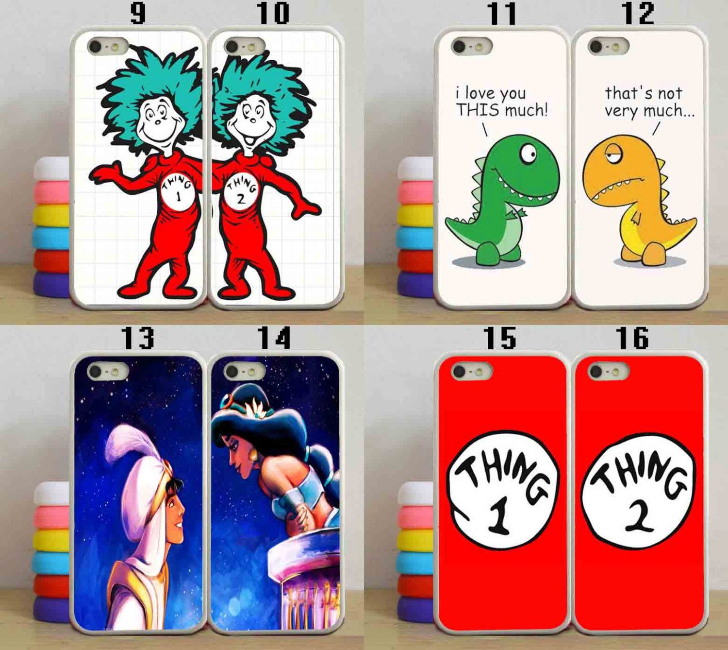 Thing 1 And Thing 2 Couple Best Frienddisney Aladdin By