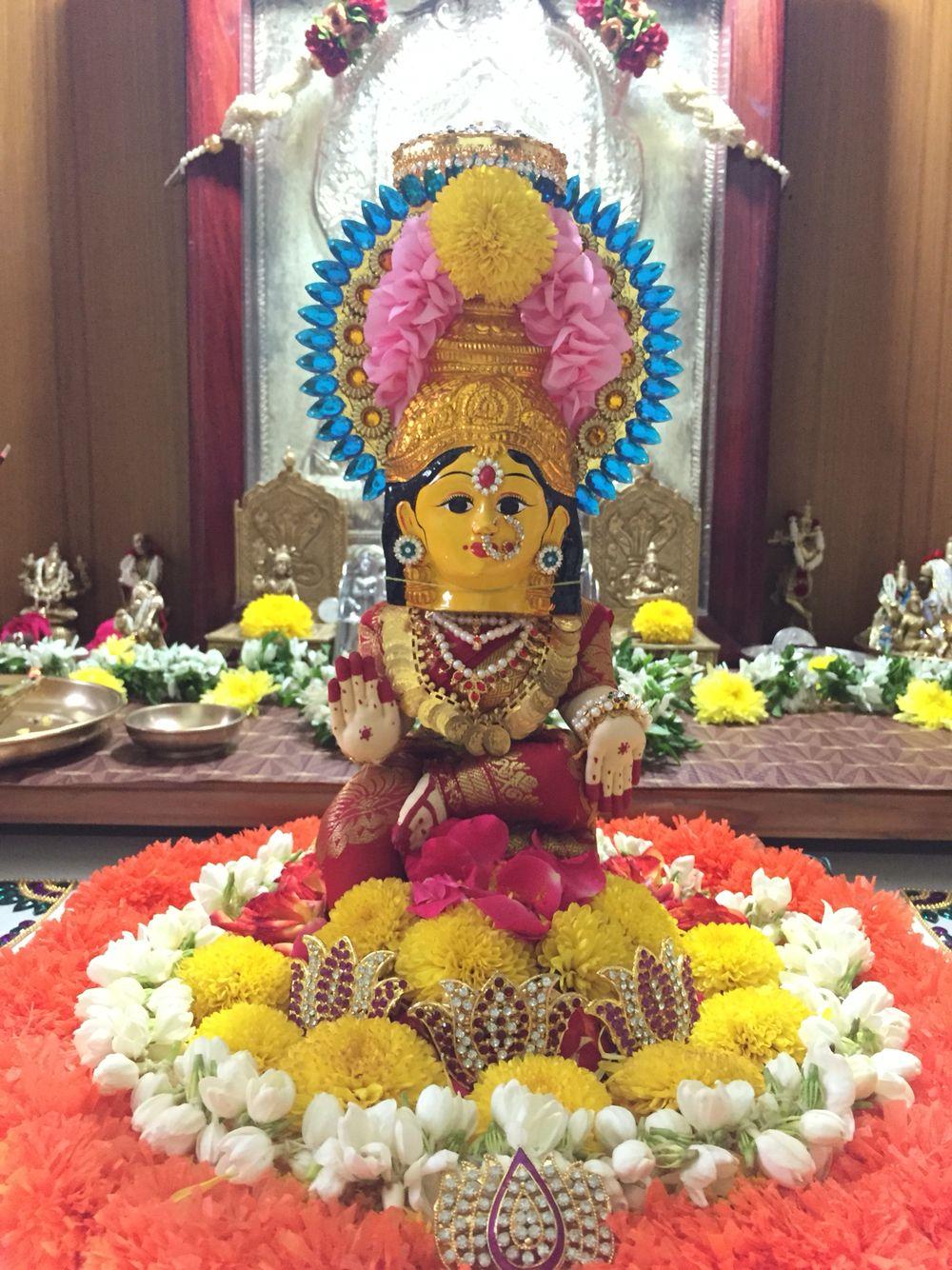 Flower Decorations House Decorations Pooja Mandir Indian