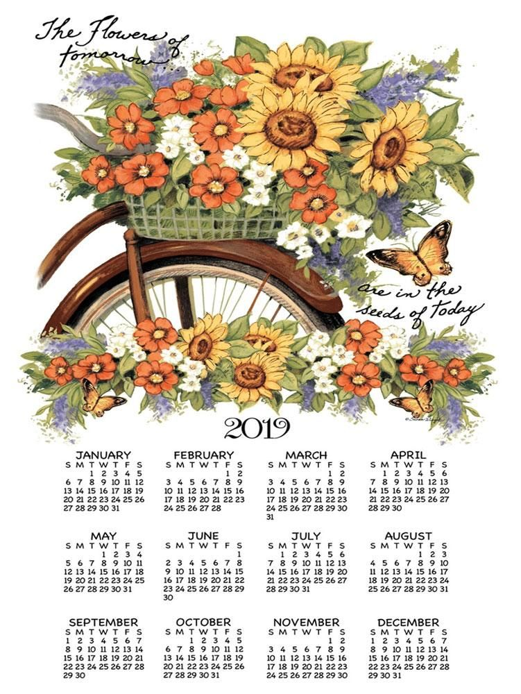 2019 Linen Calendar Towel Kitchen the Heart of the Home