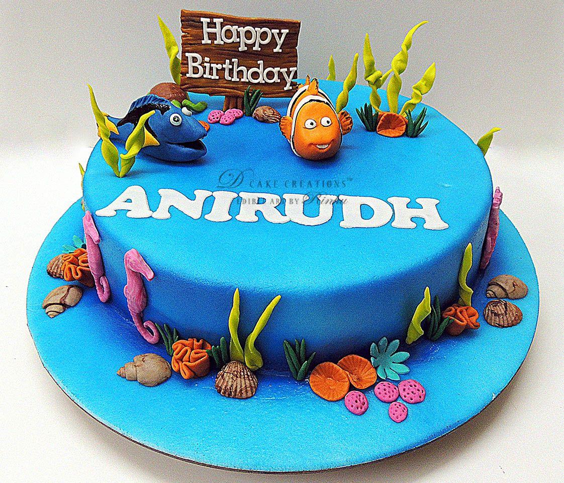 Cake Design Nemo : Nemo & Dory Cake Dory Cakes Pinterest Dory cake ...
