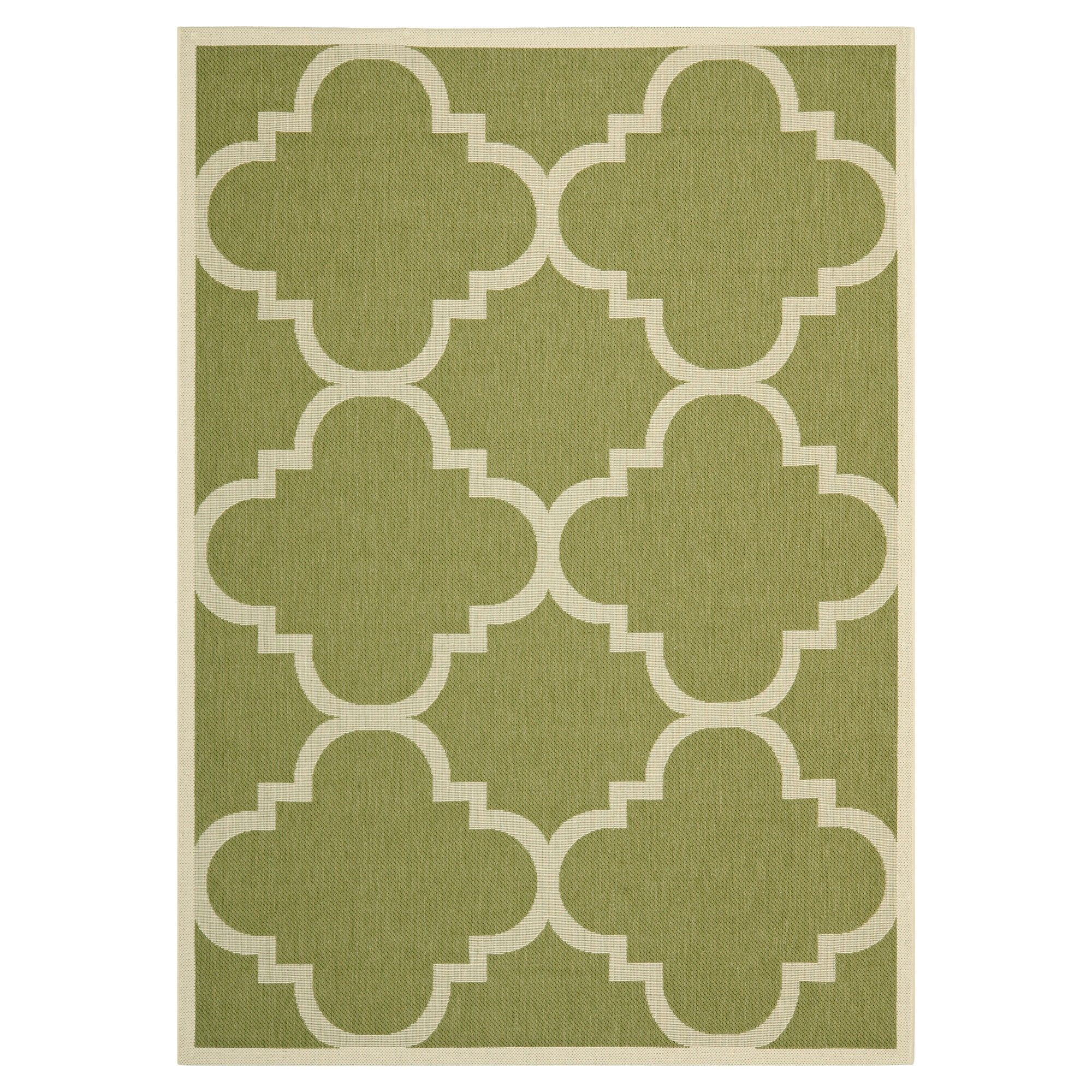 Richmond Rectangle 8 11 X 12 Outdoor Patio Rug Green Beige