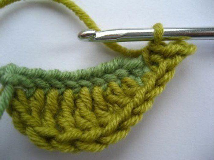 Как связать листок крючком | вязание | Pinterest