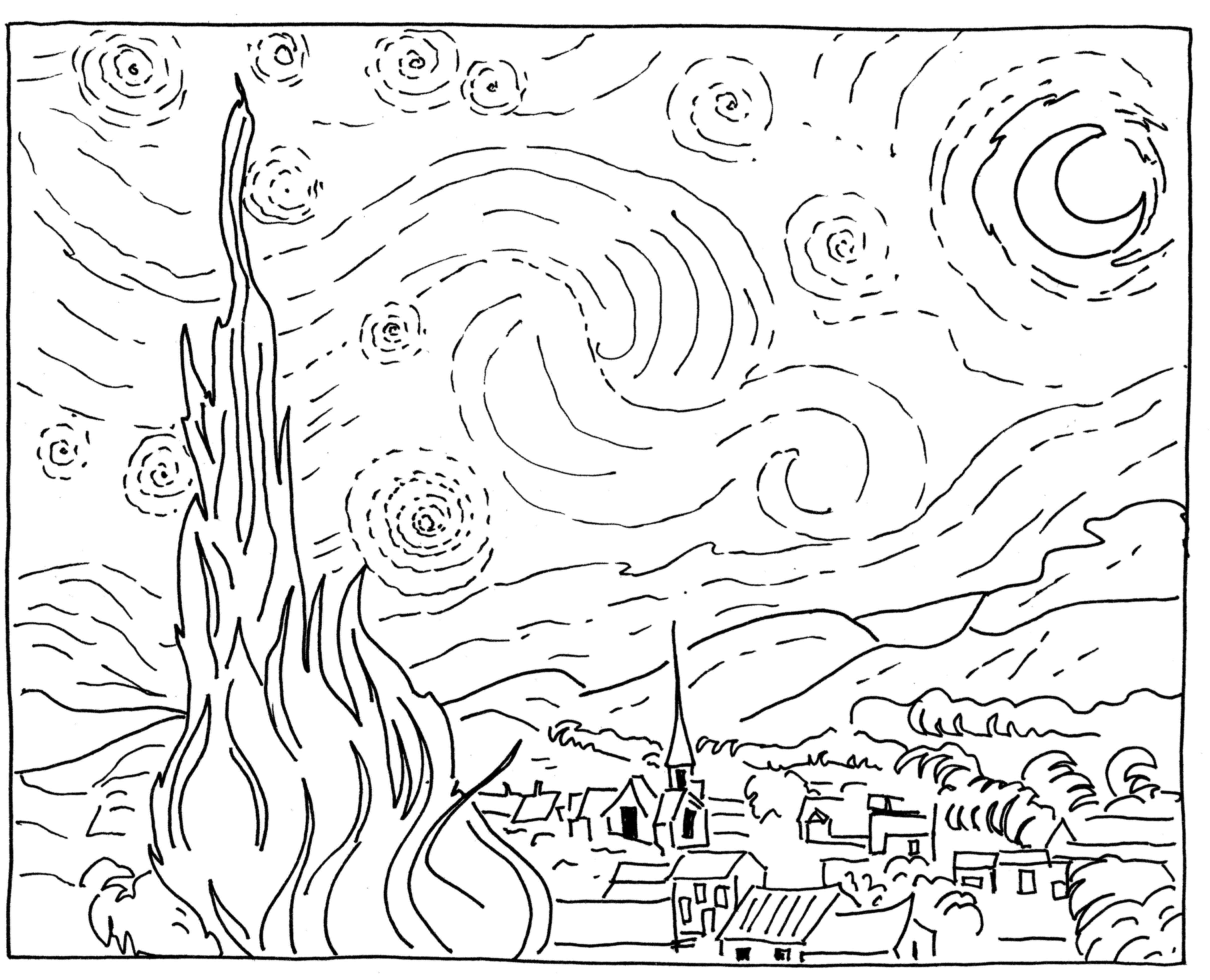 Sponge Painting Van Gogh Starry Night In The Playroom Starry Night Van Gogh Starry Night Painting Van Gogh Tattoo