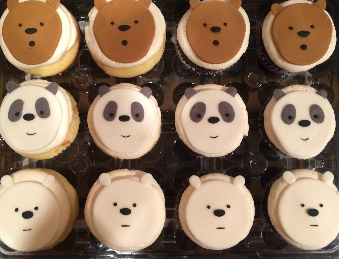 We Bare Bears Theme Cupcakes