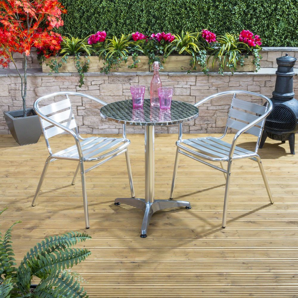 f054b04d38b0 Details about Nice Café Round Aluminium Bistro Outdoor Garden ...