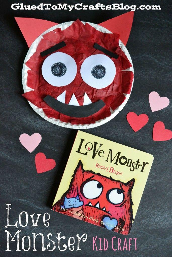 Paper Plate Love Monster Kid Craft Paper