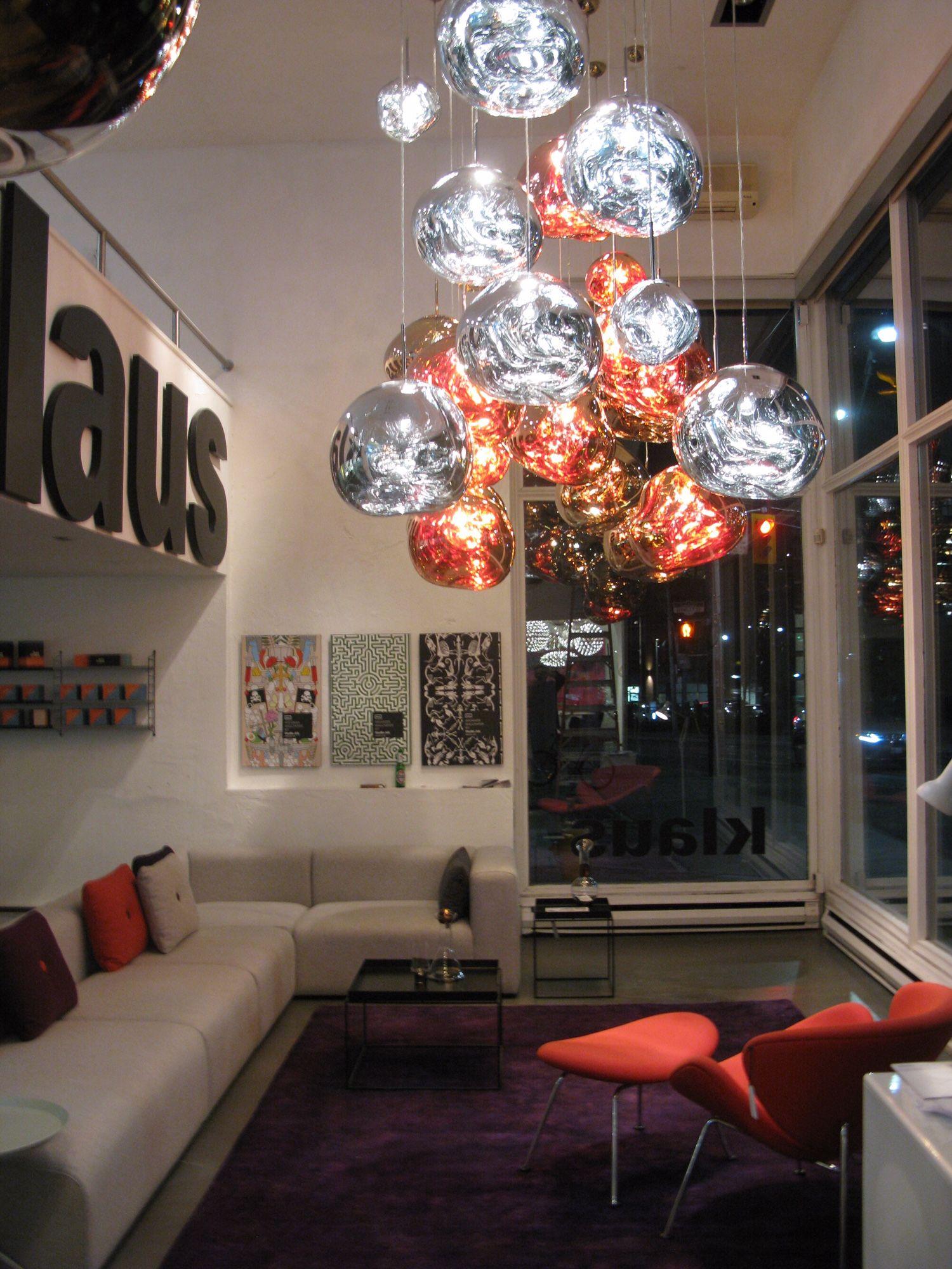 Tomdixon Meltpendant At Klaus Showroom Fancy Lights Tom Dixon Melt Swedish Design