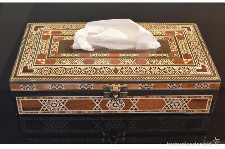 Excelente caja de pa uelos en taracea granadina - Madera para marqueteria ...
