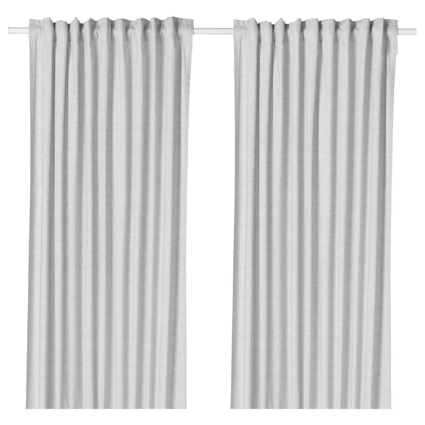 GlansnÄva Curtain Liners 1 Pair Light Gray 56x94 - Ikea Gardinenstange Vidga Video