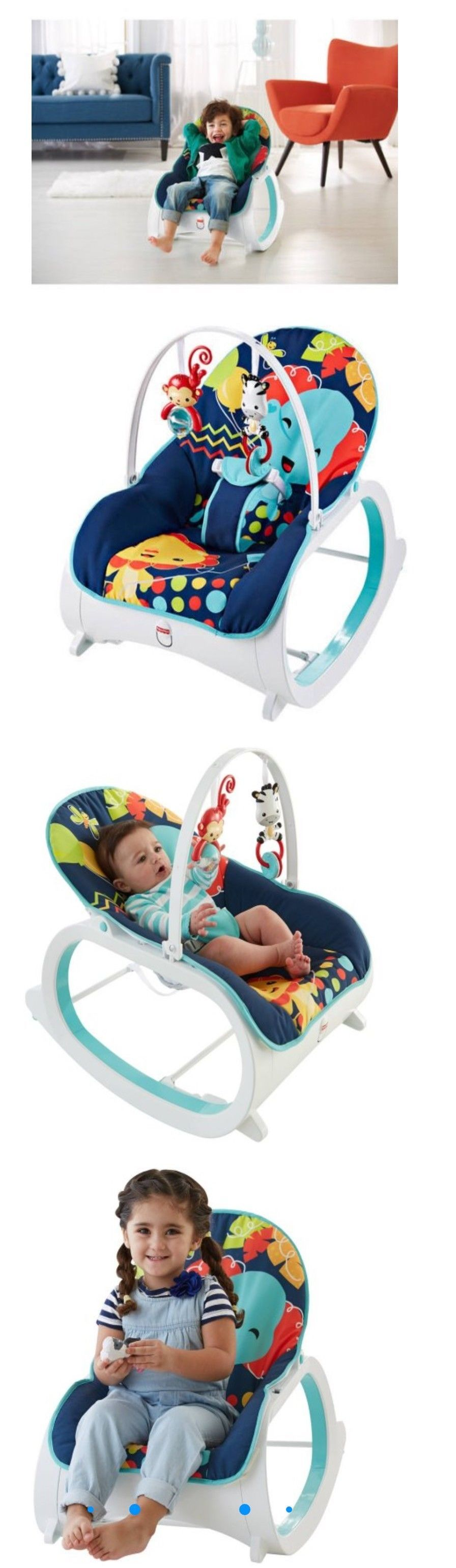 Baby Bouncy Chair Age Pottery Barn Anywhere Fisher Price Infant To Toddler Rocker Seat Bouncer Bouncers And Vibrating Chairs 117034 Sleeper Toy Blue Buy It Now Only 49 82 On Ebay