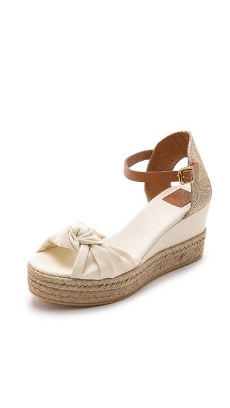 Tory Burch Knotted Bow Wedge Espadrilles · SneakersWedge SandalsTory ...