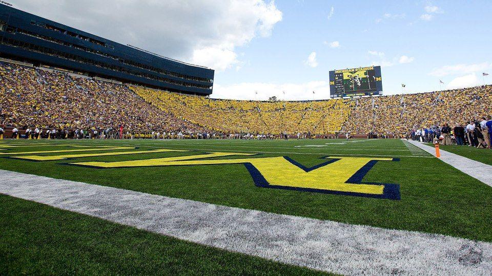 Michigan Stadium Turf Level Michigan Football Michigan Ohio State Michigan