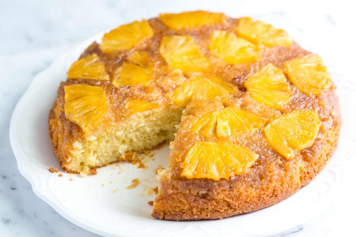 Fresh Pineapple Upside Down Cake Recipe Pineapple