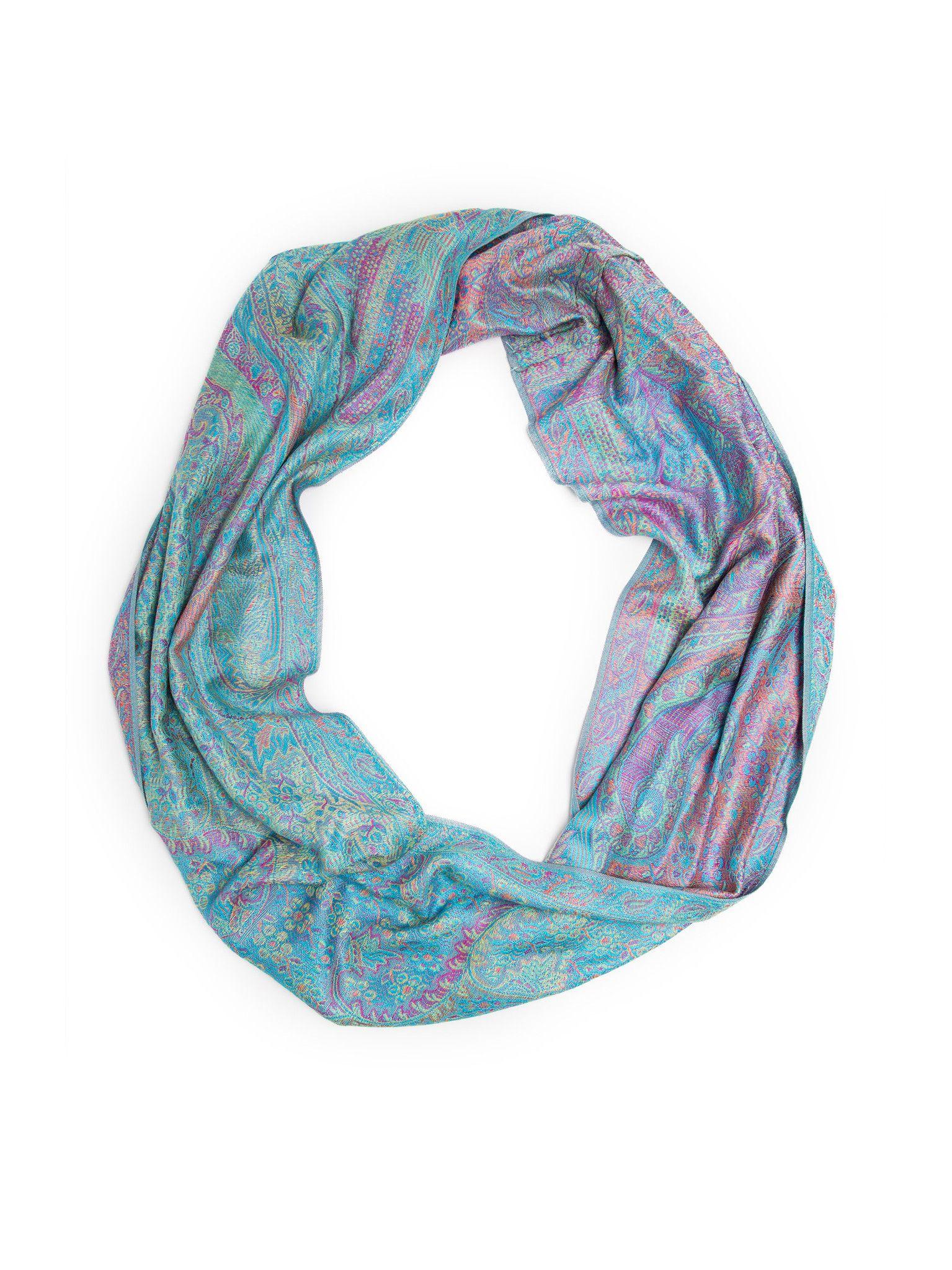 0c3934d74 Rajana Infinity Scarf, Richly Colored Rare Pashmina Infinity ...