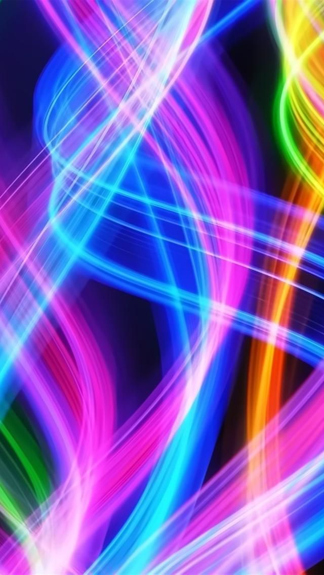Hd Colorful Spirals Iphone 5 Wallpapers