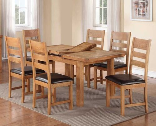 Harvest Oak Set With 4 Chairs Dining Furniture Erfly Extending Cork Dublin