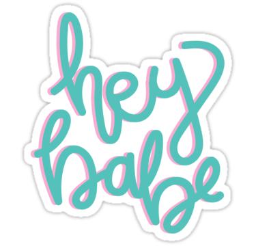 Hey Babe Cotton Candy Sticker By Graceeliseb Candy Stickers Aesthetic Stickers Cotton Candy