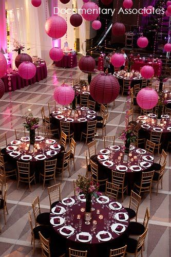 Maroon Wedding Table Decorations