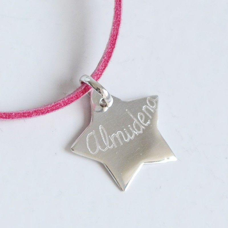08c0b470bb31 Collar con colgante de estrella de plata Regalos Originales Personalizados