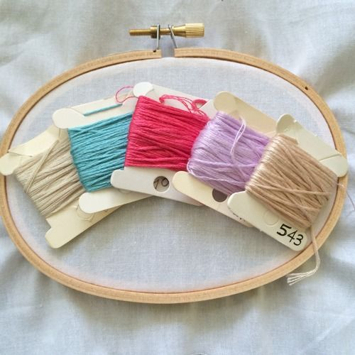Tip on choosing color palettes for your next embroidery project .