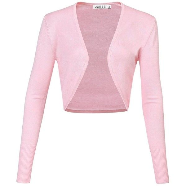 JUESE Women's Vintage Cocktail Casual Long Sleeve Bolero Shrug ...