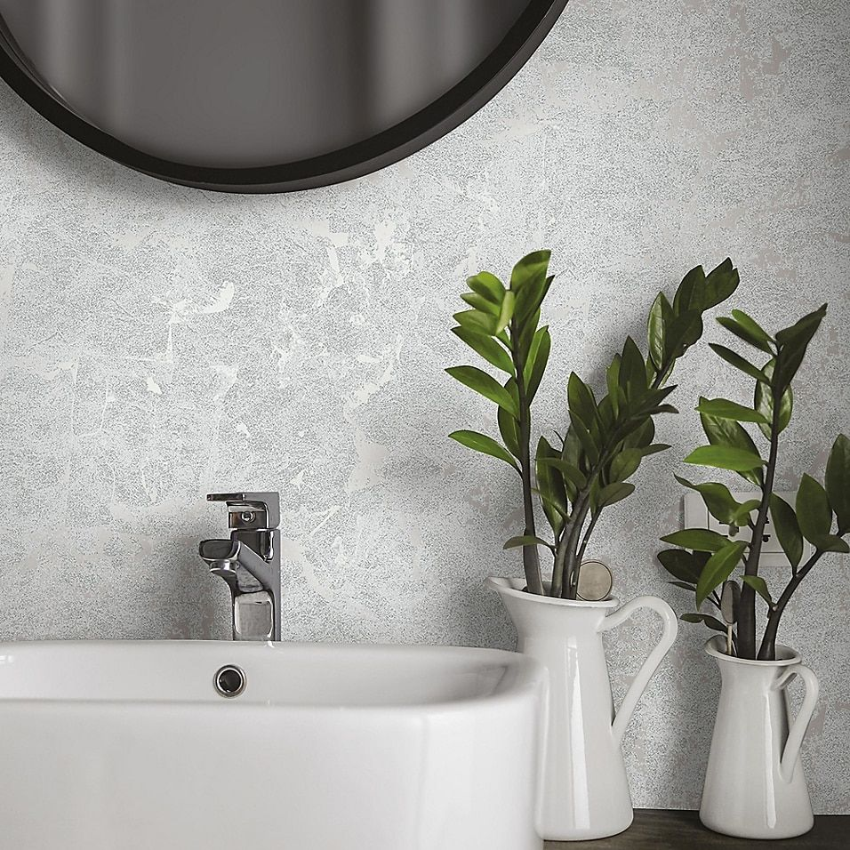 Silver Leaf Peel And Stick Wallpaper