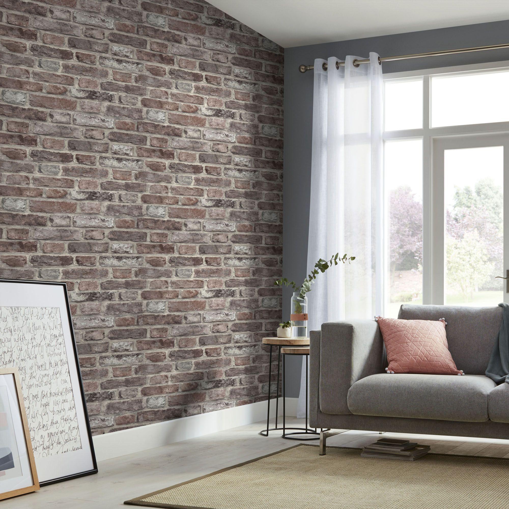 Tanlay Red Brick Smooth Wallpaper Red Brick Wallpaper Living Room Brick Wallpaper Living Room Red Brick Wallpaper