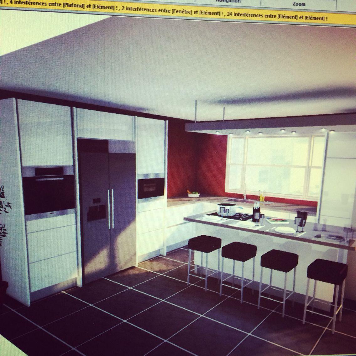 cuisine blanc premium ultra brillant sans poign e avec frigo am ricain int gr nobilia lignea. Black Bedroom Furniture Sets. Home Design Ideas