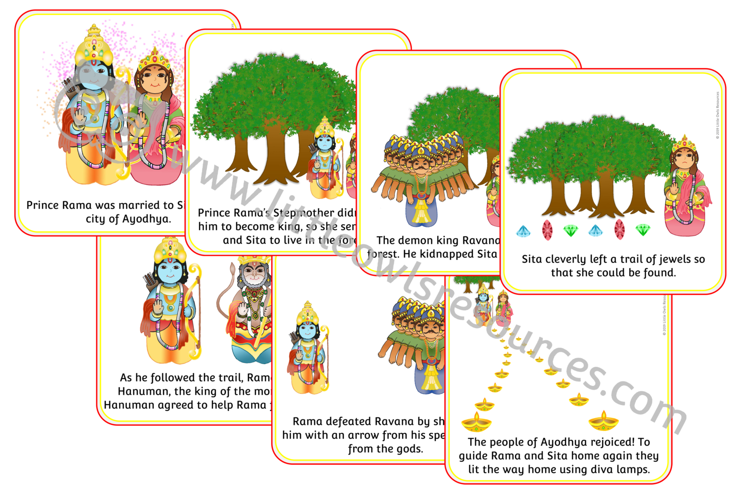 Free Diwali Story Sequence Cards Printable Early Years Ey Eyfs Resource Download Little Owls Resources Fre Diwali Story Diwali Activities Printable Cards [ 1000 x 1500 Pixel ]