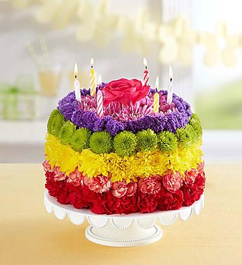 Birthday Wishes Flower CakeTM Rainbow
