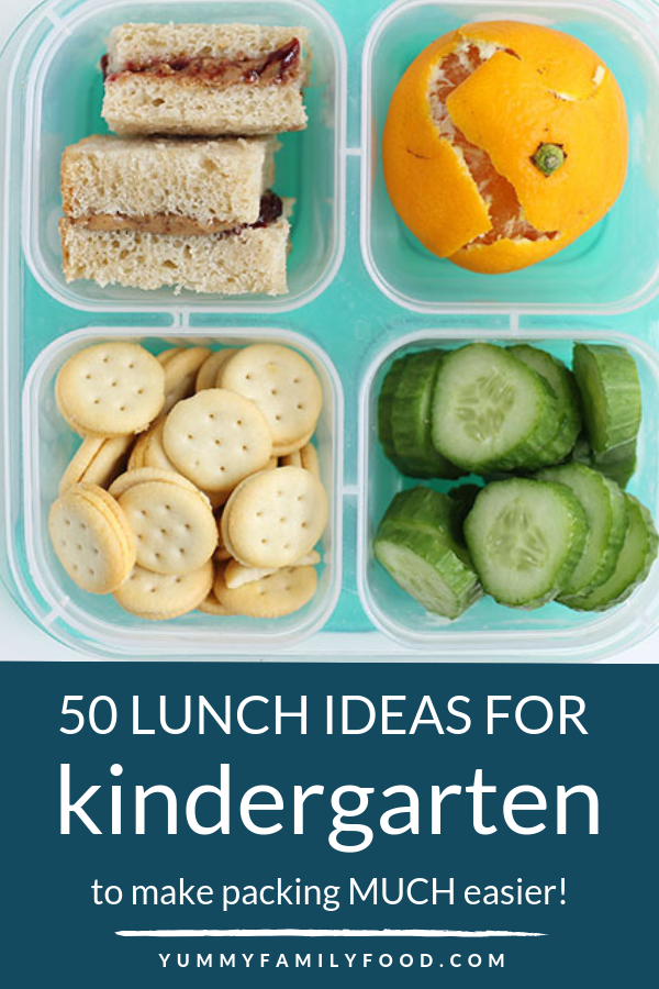 50 Easy Lunches for Kindergarten