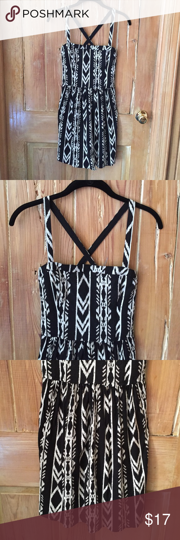 """Abercrombie dress 33.5"""" from shoulder to bottom.  Very cute, casual dress. Abercrombie & Fitch Dresses Mini"""