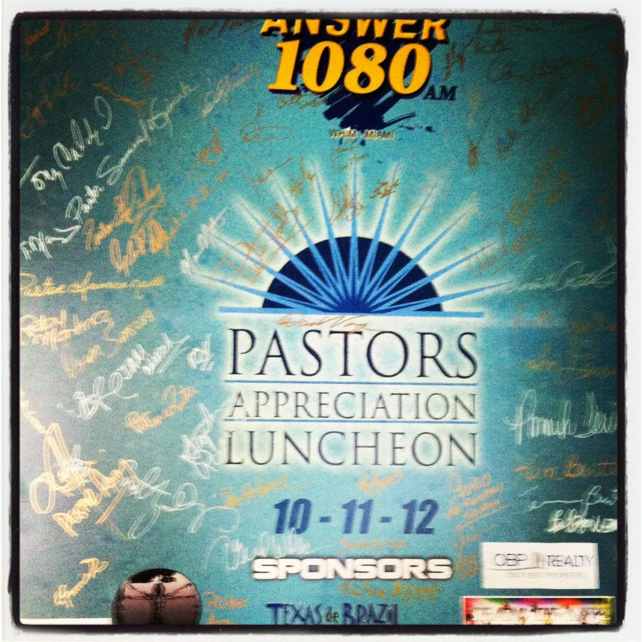 Pastor appreciation lunch the day #E1MI Launched! | Everyone