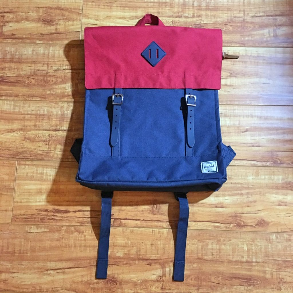 Red flannel backpack  Herschelus red u blue survey backpack  Products  Pinterest