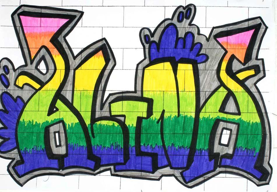 Graffiti Mit Dem Eigenen Namen Von Alina 14 Kunst Ideen