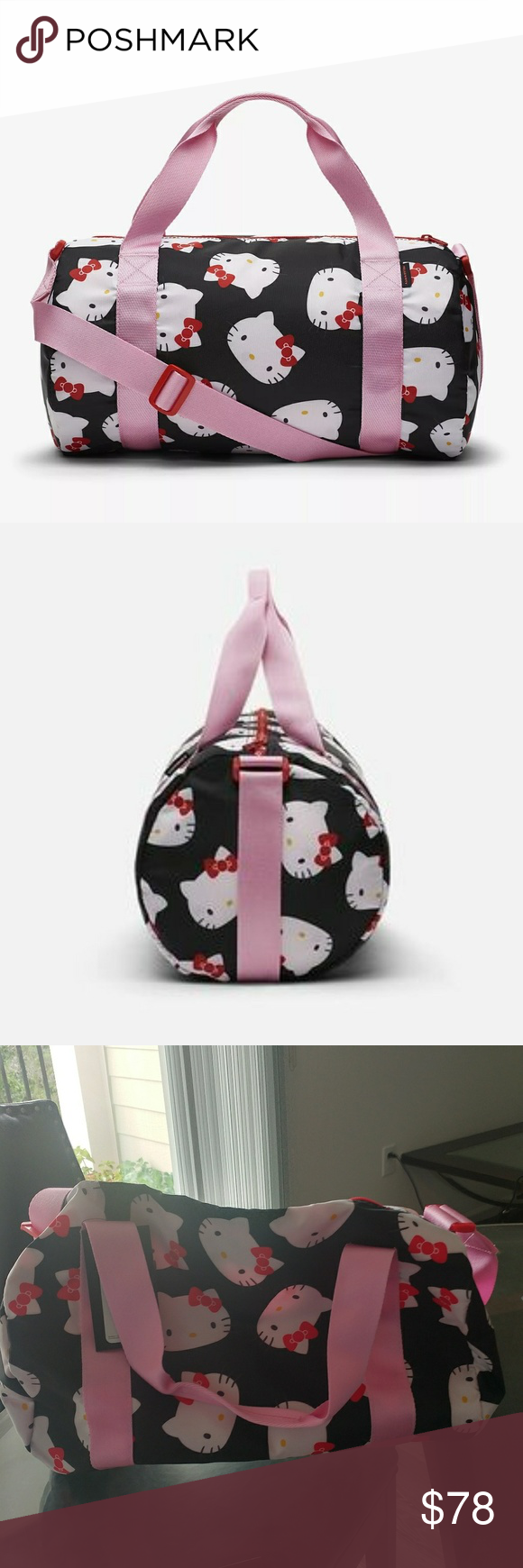 7cf030636 ... Bag The Converse x Hello Kitty mini duffel bag is printed with a one of  the world's most recognizable icon. All over Hello Kitty print Polka dot ...