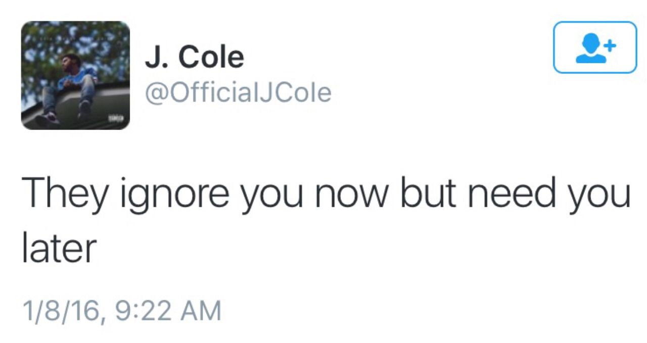 J Cole  F F   True