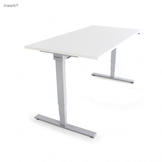 Steh Sitz Schreibtisch Masterlift2 Sw Chrom In 2020 Weisse Tischplatte Schreibtisch Und Hohenverstellbarer Schreibtisch