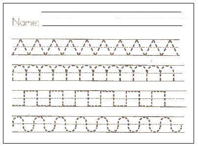 Free Printable Preschool Writing Pattern Worksheets To Kids