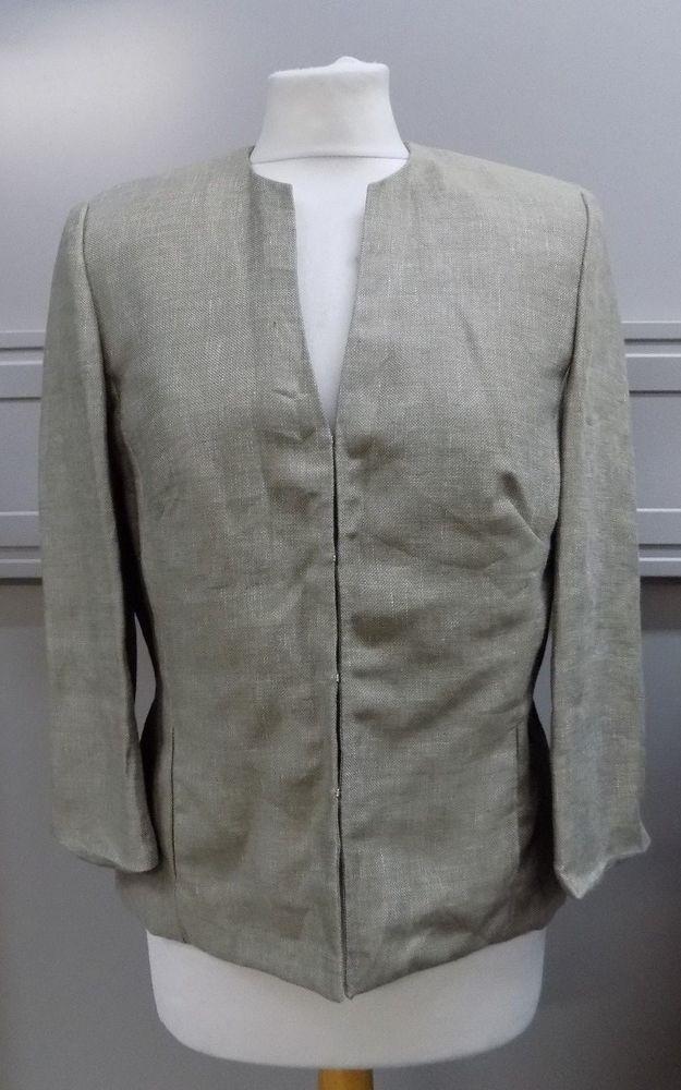 Austin Reed Ladies Linen Blazer Jacket Size 10 Linen Blazer Linen Women Linen Clothes