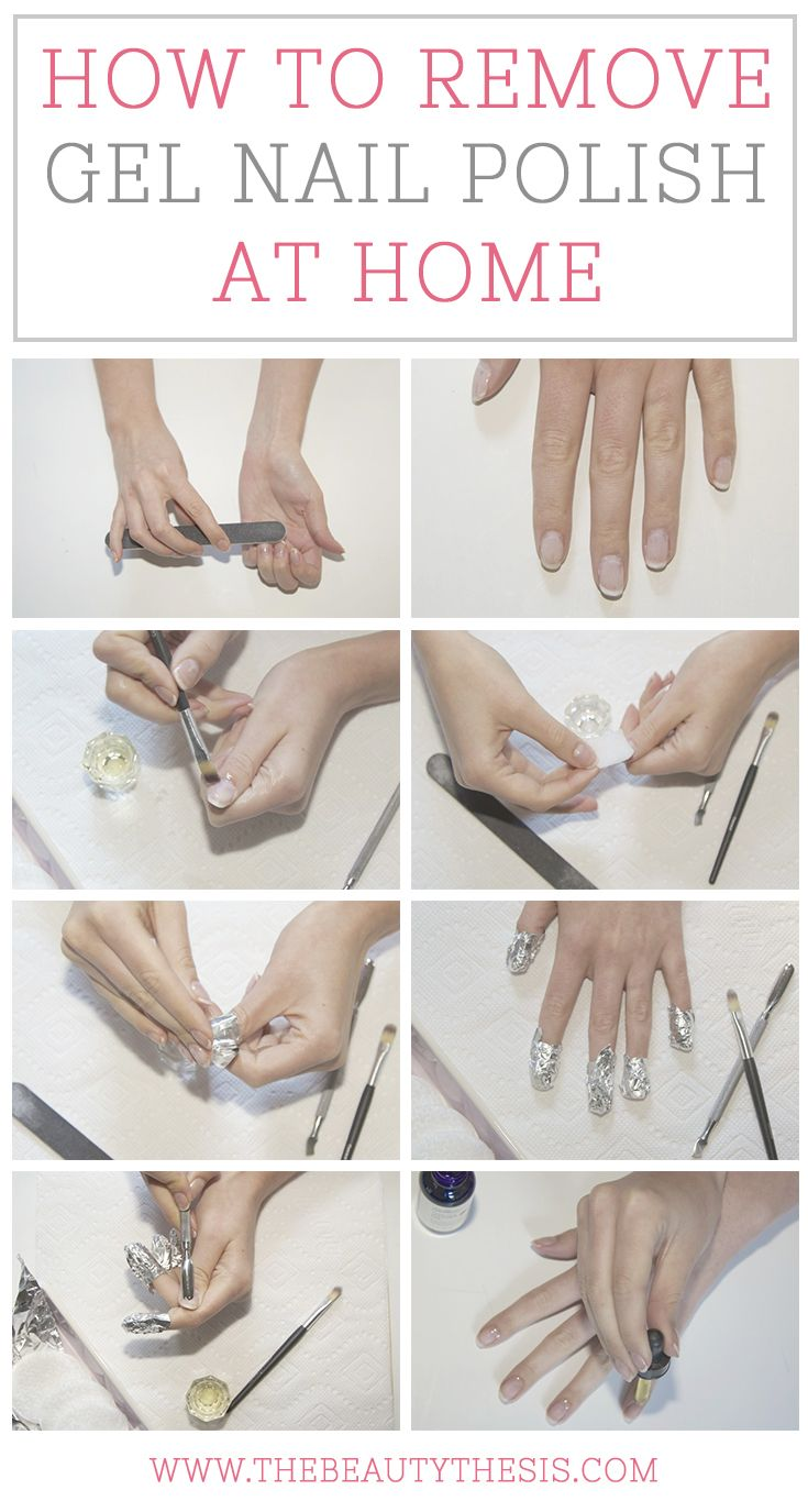 How to remove gel nails at home! | Nail Polish Ideas | Pinterest ...