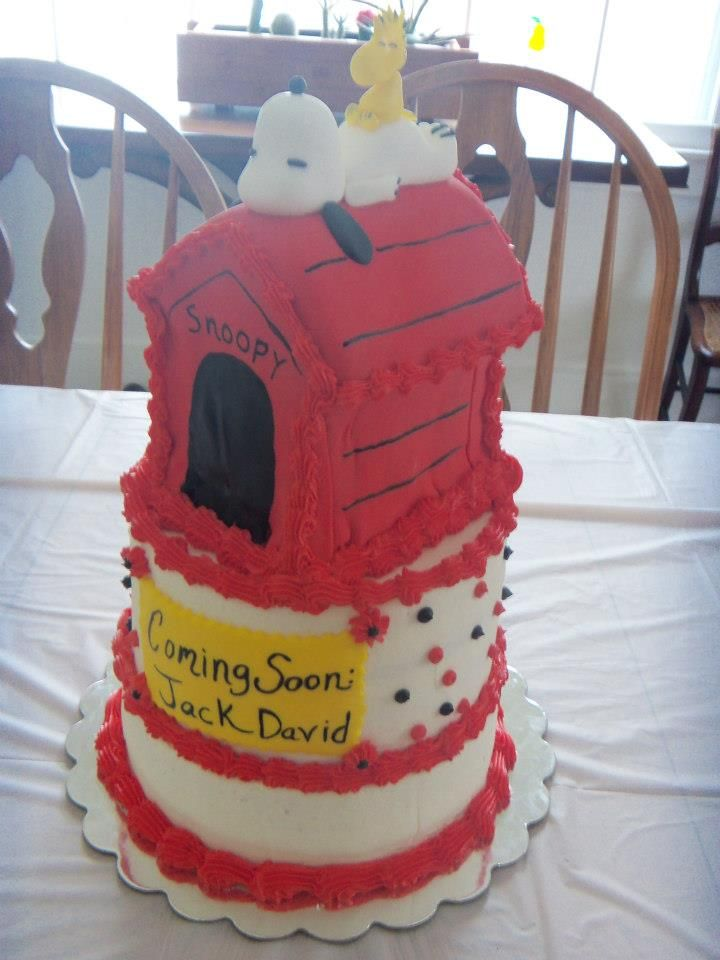 snoopy doghouse cake