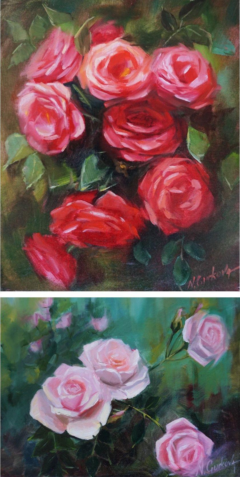 Pink Rose Flower Print Garden Floral Wall Art Decor For Kitchen Living Room In 2020 Floral Paintings Acrylic Flower Painting Flower Painting Original