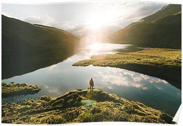#Lake  #landscape  #LandscapePhotographysunrise  #Mountain  #photography  #Poster  #Sunrise  #Switzerland #Mountain #Lake Switzerland Mountain Lake Sunrise - Landscape Photography Poster,