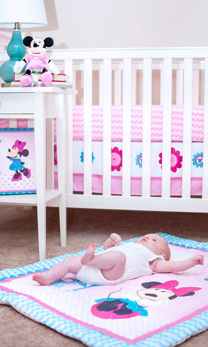 ad] This Disney Baby Minnie Mouse crib set is perfect for a girl\'s ...